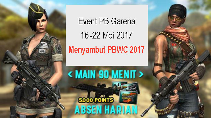 Event PB Garena Indonesia 16 Mei 2017 PBWC