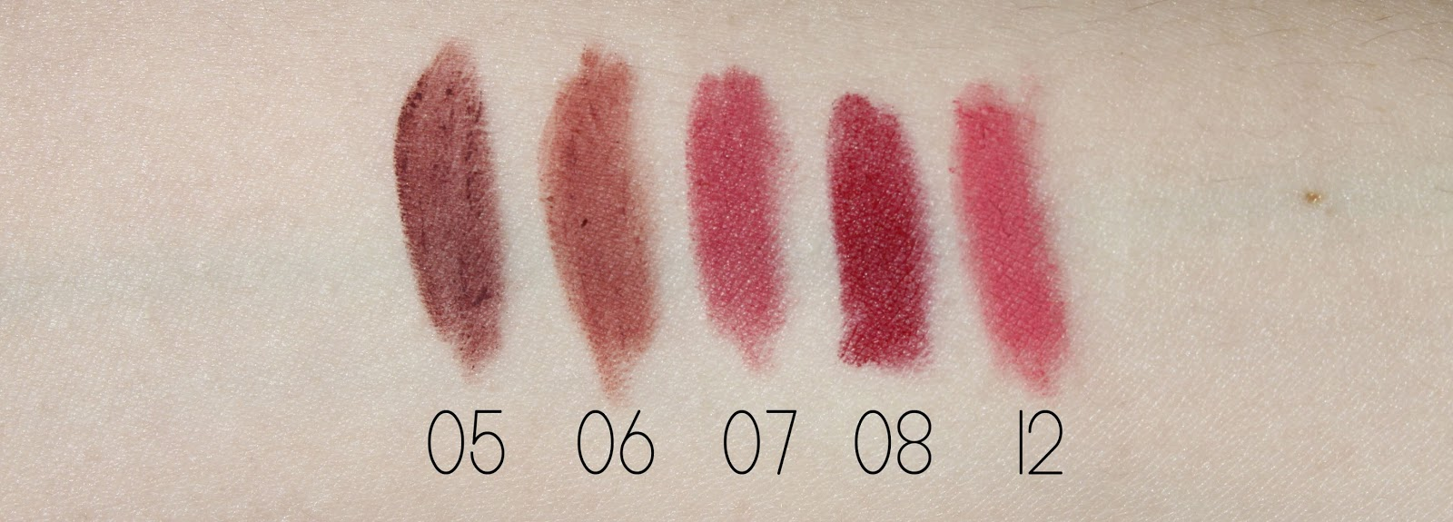 Essence Lip Liners Arm Swatch