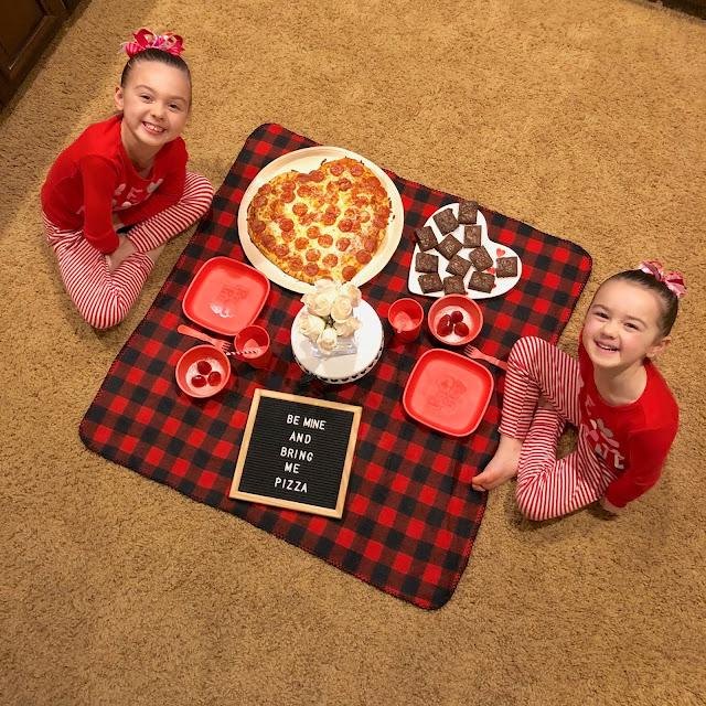Valentine's Traditions- Valentine's Pizza Picnic