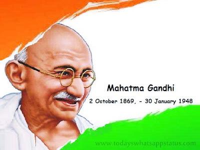 100 Mahatma Gandhi Quotes Status in Hindi | Mahatma Gandhi Ji Thoughts