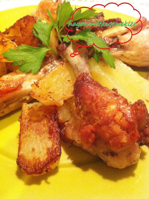 Kanatlı Patates Tarifi,resimli kolay patatesli yemekler