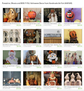 Pumpkins, Ghosts and BOO-T-FUL Halloween Decor from Handmade Art Fair (HAFAIR)