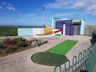 The Drift Park Crazy Golf course in Rhyl