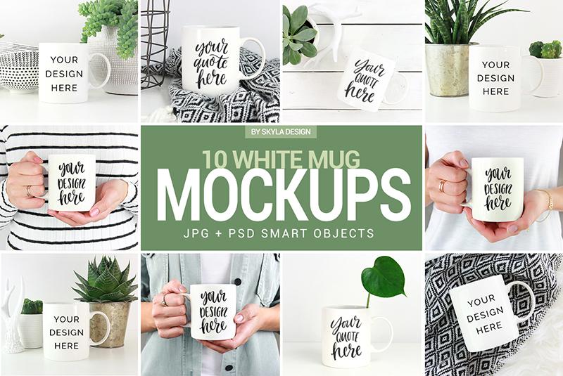 white coffee mug mockups
