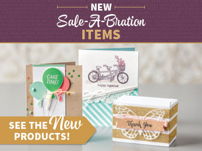 New Sale-a-Bration Products available here free with qualifying purchases
