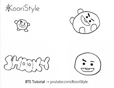 Koori Style, KooriStyle, BTS, BT21, Shooky, Suga, Min Yoongi, Yoongi, Pin, Brooch, Broche, Felt, DIY, Tutorial, Make, Easy, Cute, Kpop, Facil, Fieltro, Plantilla, Printable