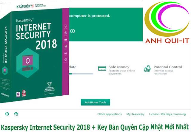 (Antivirust) Kaspersky Internet Security 2018 + Key Bản Quyền Cập Nhật Mới Nhất