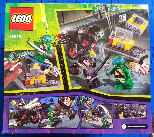 TMNT LEGO set 79118 Karai Bike Escape rear of pack