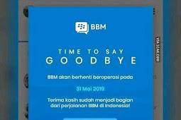 Blackberry Messenger (BBM) Tutup usia