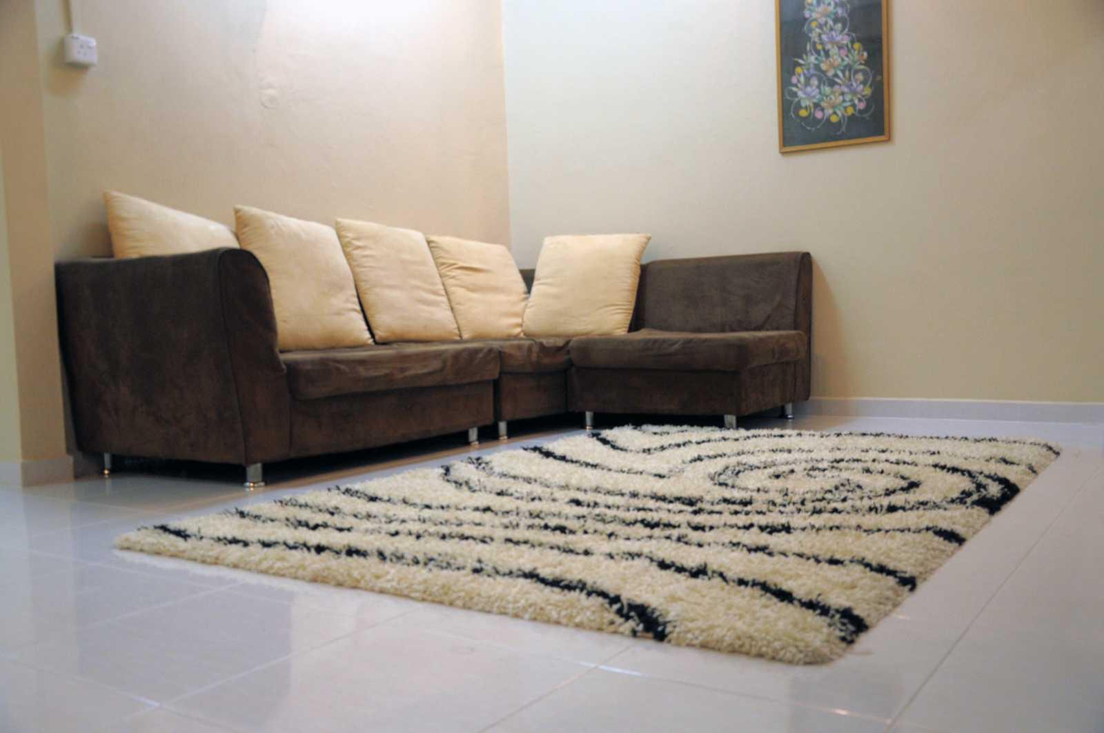 Ruang Tamu Sofa Carpet Berbulu Tebal