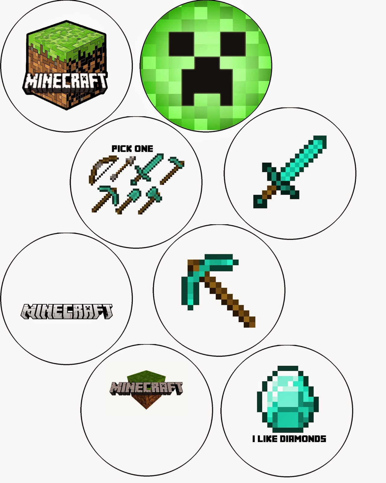 Doodlecraft minecraft crafts and decorations jeuxipadfo Images
