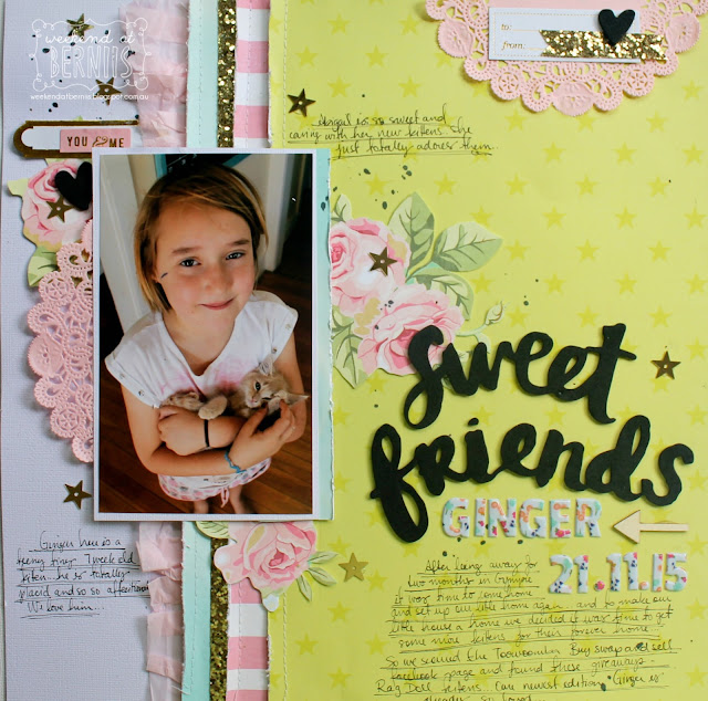 """Sweet Friends"" layout by Bernii Miller for Sugar Maple Paper Co - Cake for Breakfast kit."