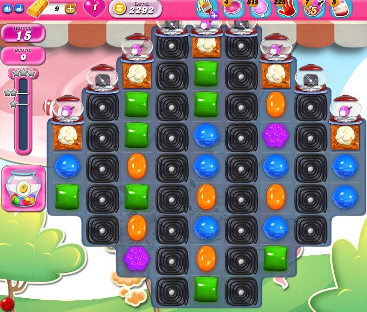Candy Crush Saga level 2292