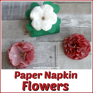 PaperNapkinFlowers wesens-art.blogspot.com