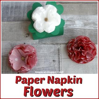 Wesens Art Diy Paper Napkin Flowers
