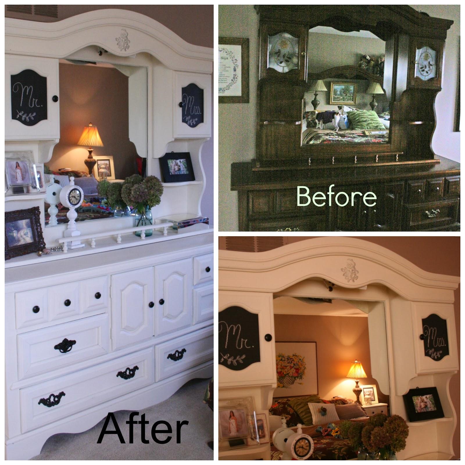 Priscillas: I Painted My Bedroom Furniture