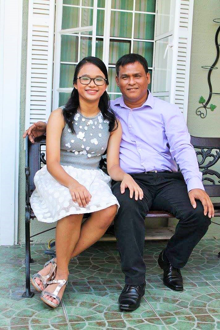 Father and daughter portrait, Filipino family, Filipino parents