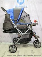 Kereta Bayi BabyDoes CH278 Parade-X Roda 3 Hadap Depan atau Belakang Blue