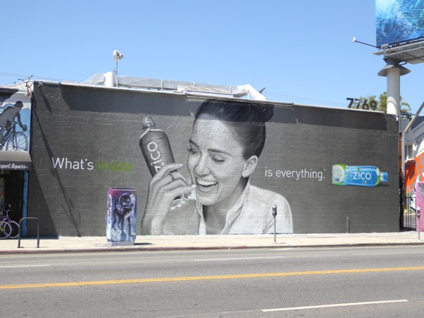 Whats inside is everything Zico coconut water wall mural ad