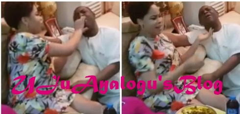 Ex-minister Fani-Kayode shares video of wife feeding him to shut divorce rumour
