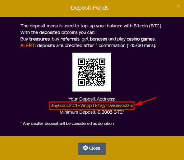 Пополнение счета в MySolidCoin 2