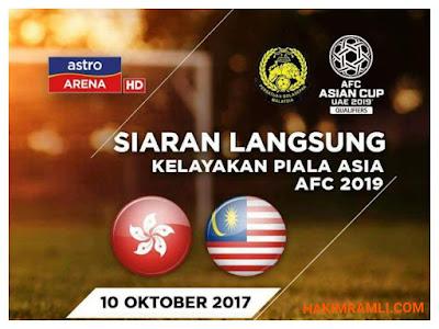 Live Streaming Hong Kong vs Malaysia Kelayakan Piala Asia 10 Oktober 2017