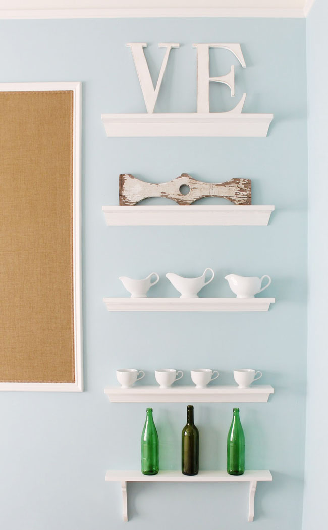 how to build a shelf gallery