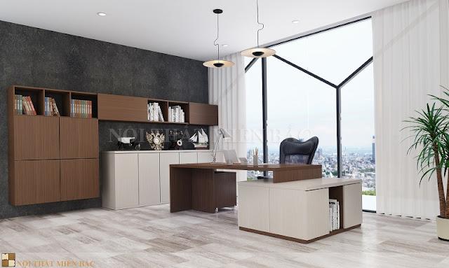 Thiết kế phòng giám đốc sang trọng được thể hiện qua cách bài trí nội thất hay lựa chọn màu sắc