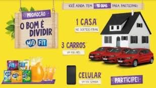 Promoção Sucos MID e FIT 2019 Nova Promoção Bom É Dividir - Concorra Casa e Prêmios