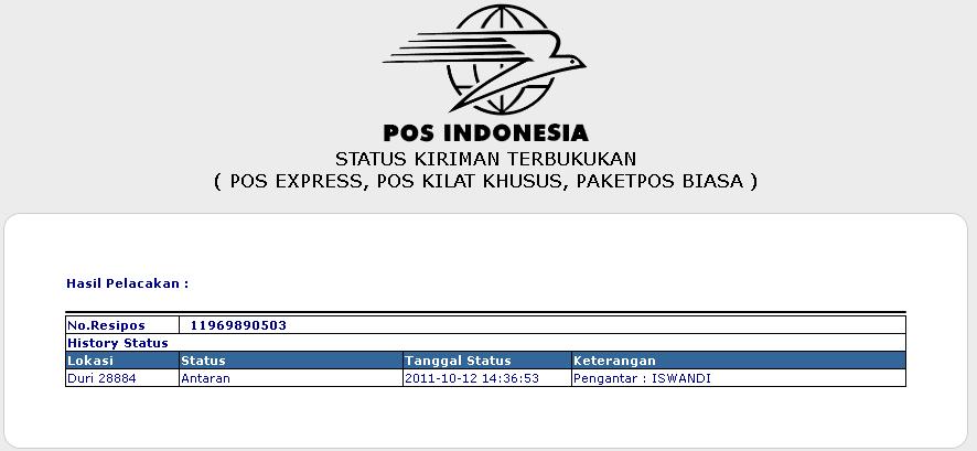 Melacak Status Pengiriman Paket Via Pos Indonesia Naqs Dna
