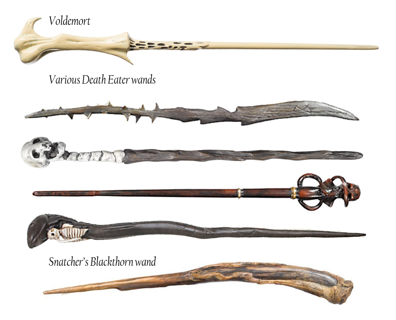 Evolution Of Wand Designs In The Harry Potter Universe