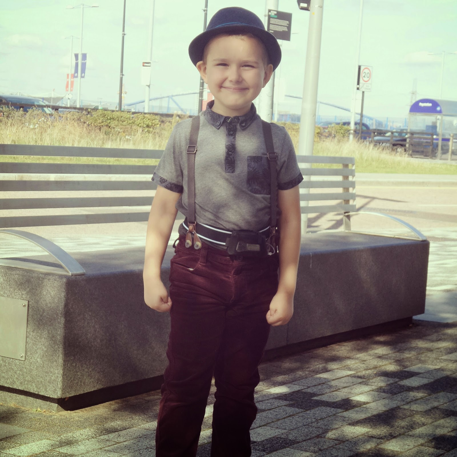 Big Boy decided what he wanted to wear - Do you think he looks like Olly Murs or Doctor Who?