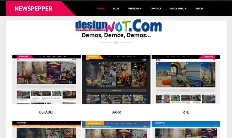 NewsPepper Responsive Blogger Magazine