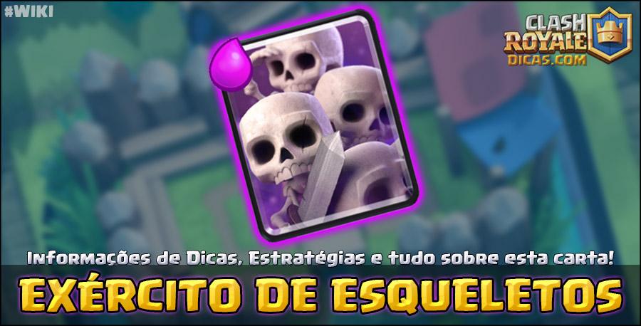 Carta Exército de Esqueletos em Clash Royale