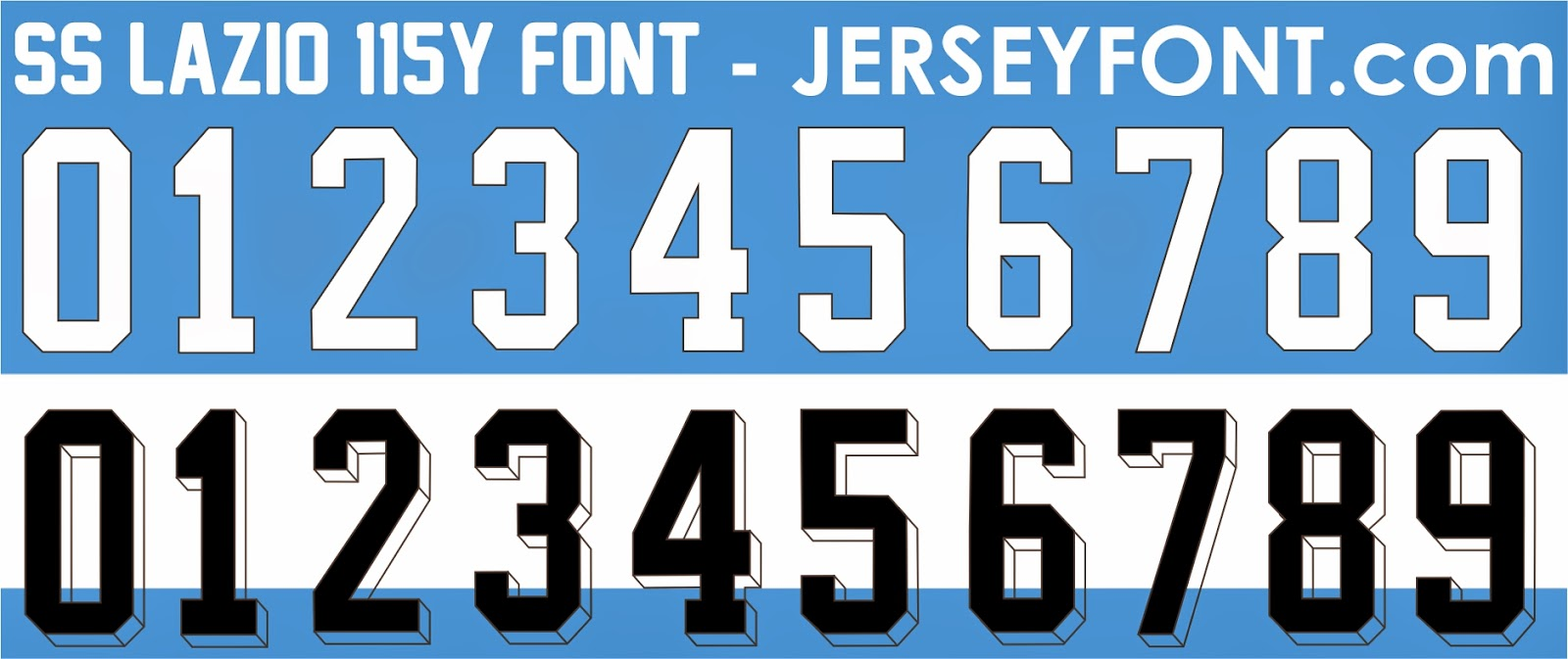Font Number Of Football Jersey