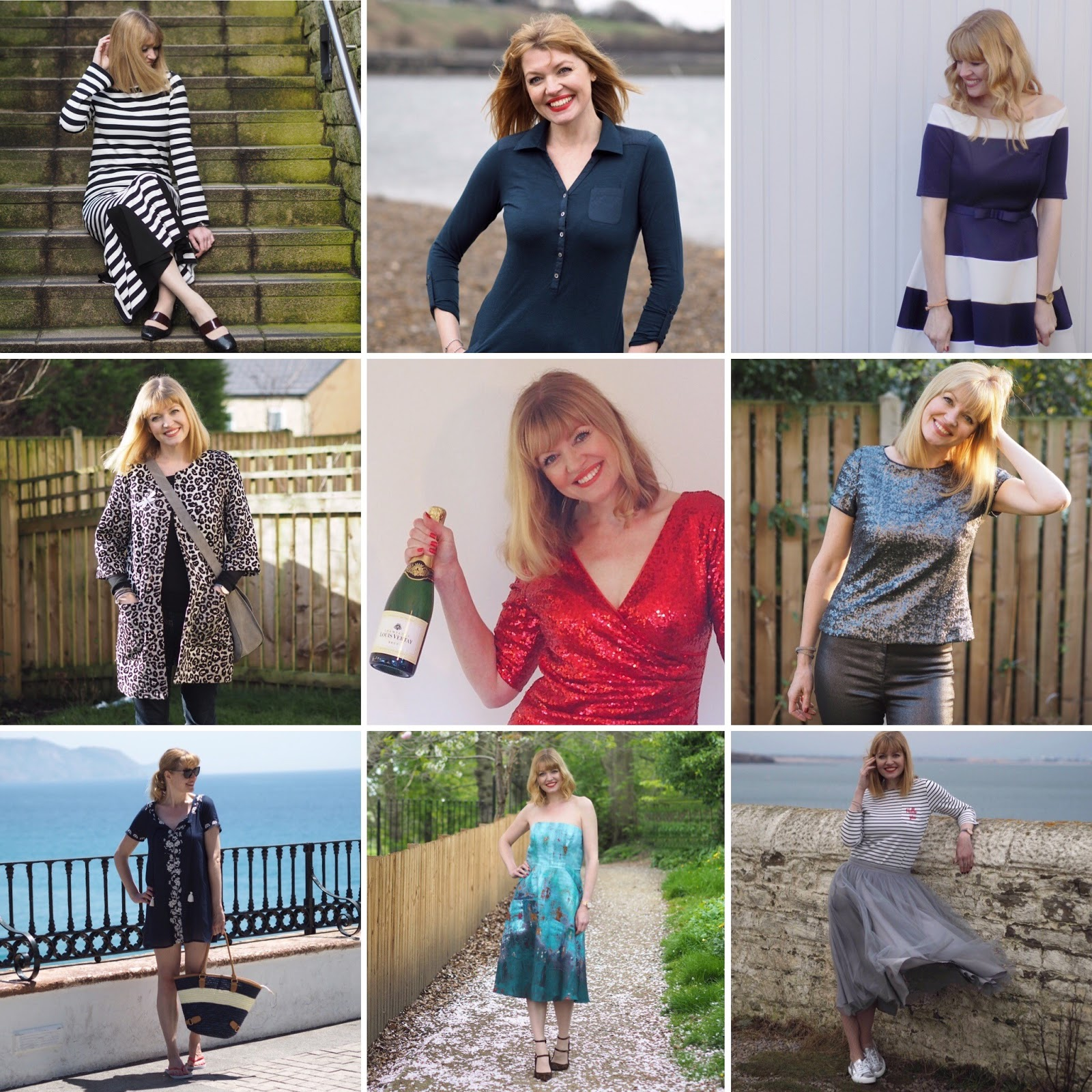 what Lizzy Loves, outfit style collage, style over 40
