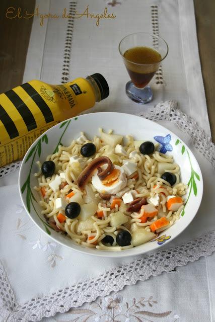 ensalada de fideuá, ensalada de pasta, vinagretas