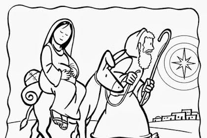 Dibujos De Maria Y Jose Para Colorear