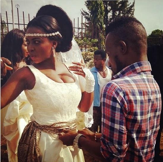 Yvonne Okoro On Movie Set In Nigeria With Jibola Dabo -5202
