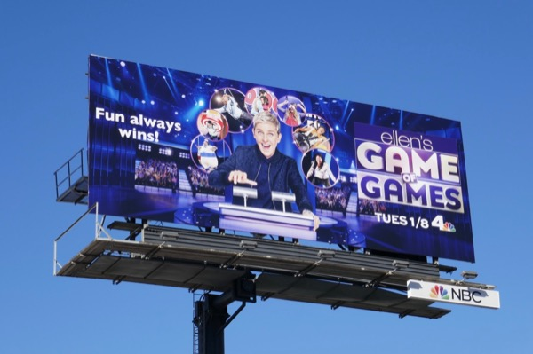 Ellens Game of Games season 2 billboard