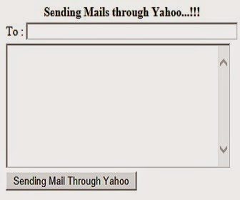 sending email using yahoo