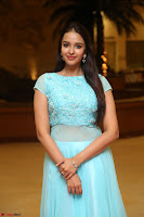 Pujita Ponnada in transparent sky blue dress at Darshakudu pre release ~  Exclusive Celebrities Galleries 016.JPG