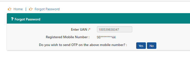 How to change your EPF password even without a registered Mobile