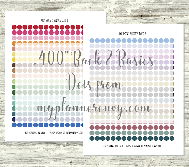 "Free Printable .400"" Back 2 Basics Dots from myplannerenvy.com"