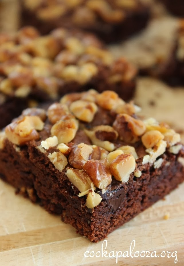 Double Chocolate Chunk Brownies with Walnuts