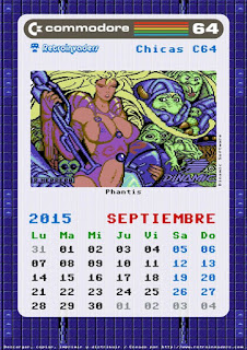 Calendario Retroinvaders 2015: Commodore 64, Chicas C64