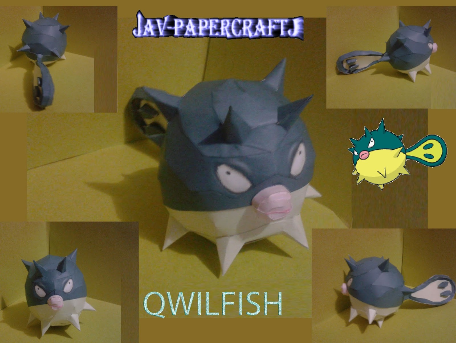Pokemon Qwilfish Papercraft