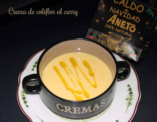 Crema de coliflor al curry