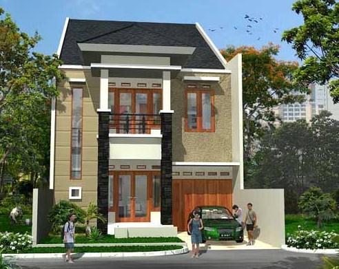 model rumah tingkat untuk lahan yang terbatas