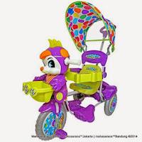 Sepeda Roda Tiga Royal RY9782C Baby JacQ dengan Kipas Angin dan Sandaran Tangan Musik